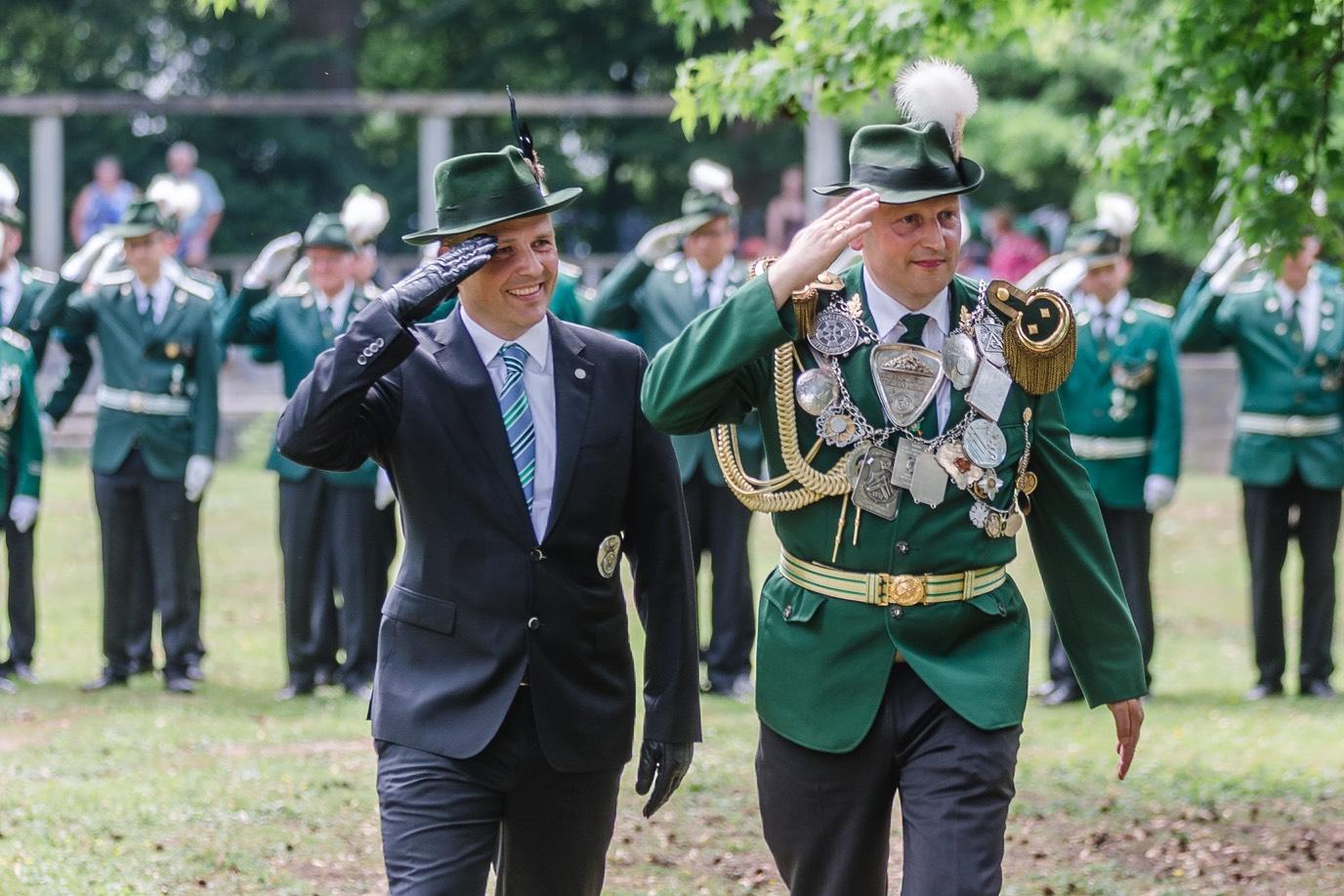 Bürgerschützen Ahlen, Abnahme des Bataillons 2018